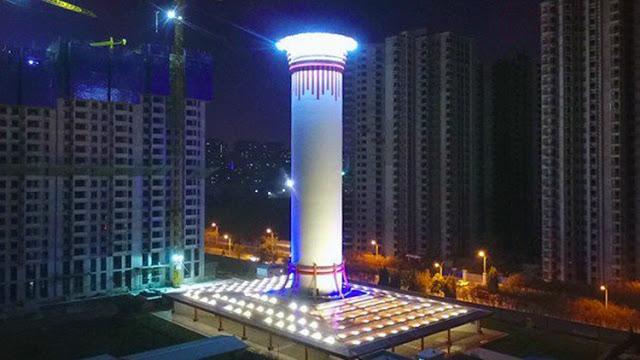 China construye el «purificador de aire más grande del mundo» y parece estar funcionando