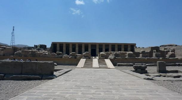 El templo impresionante de Seti I en Abydos, Egipto