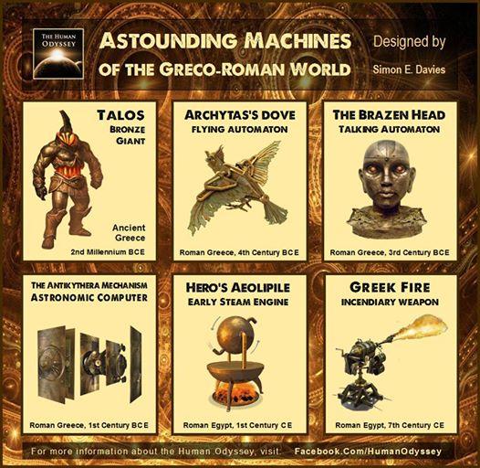 Estos son 6 asombrosas máquinas del mundo antiguo