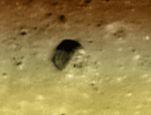 La catástrofe de un OVNI en la superficie de la Luna