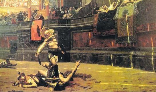 Los gladiadores tenían una dieta vegetariana