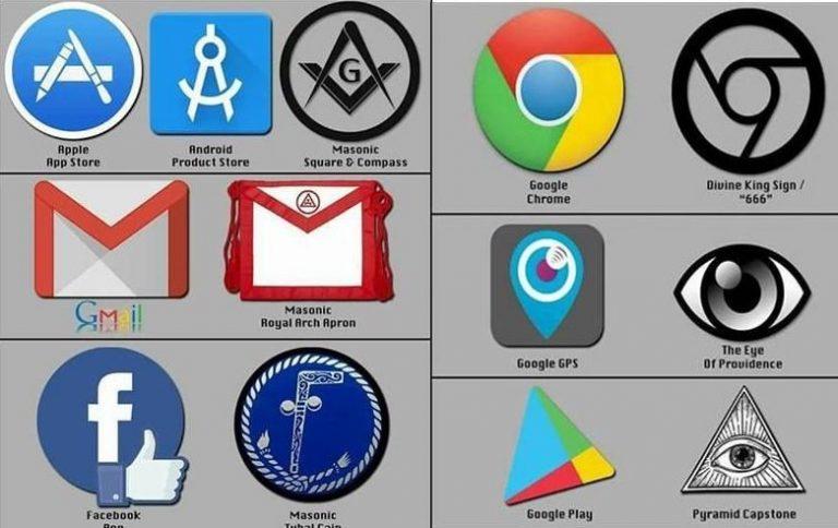 Simbolismos #Masónicos e #Illuminati se encuentran en varios logotipos de empresas poderosas