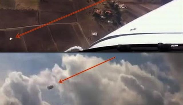 Piloto de avión se queda desconcertado al ver varios OVNIs pasar cerca de su avión sobre Toluca, México