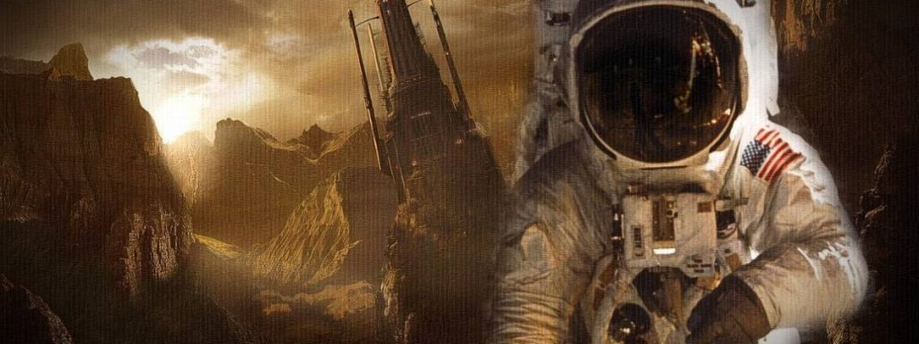 UFO: Increíble imagen de la nave espacial accidentada en Marte