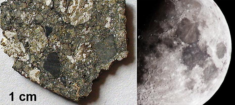 Un meteorito prueba la abundancia de agua en la Luna