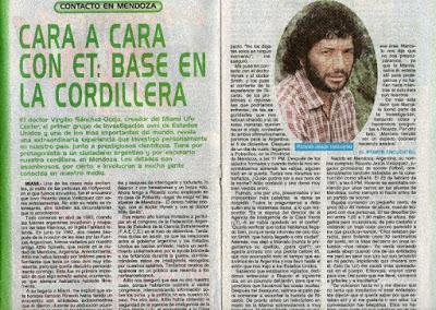 ¿Bases Extraterrestre en la cordillera de los Andes? Caso ufologico Argentino