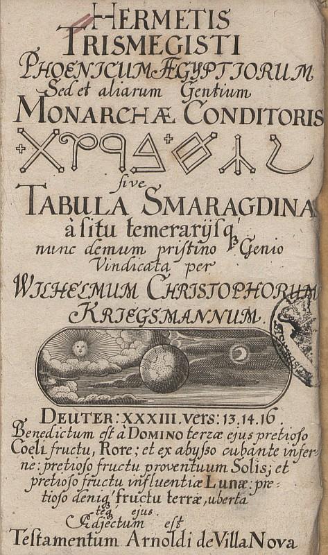 Este es el texto traducido de la tableta esmeralda: la fuente más importante de alquimia
