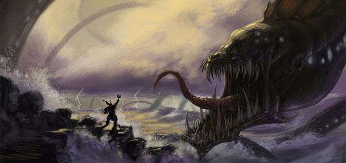 jormundgander la terrible serpiente de la mitologia nordica - Inic.