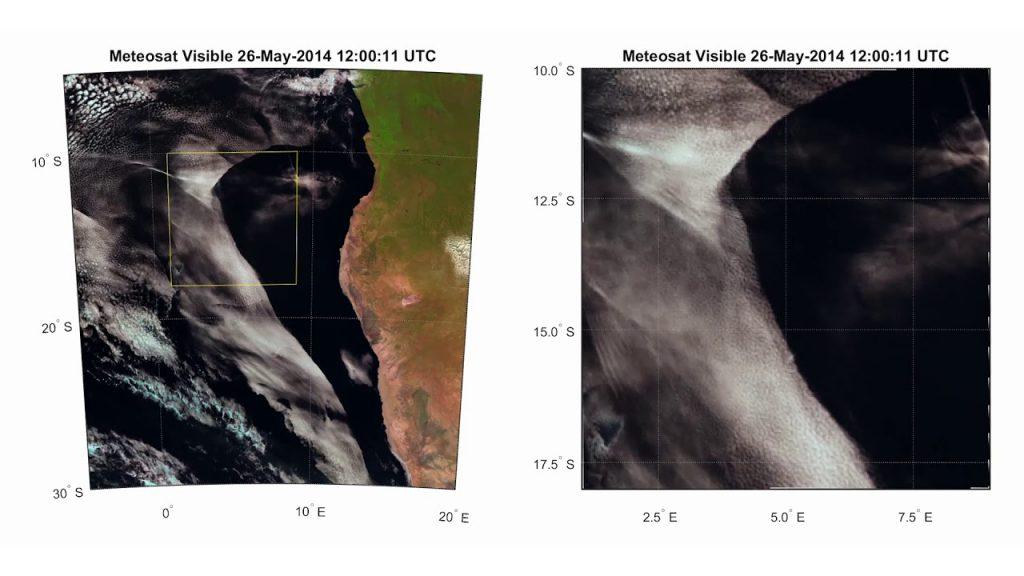 Misteriosa contracción de las nubes frente a la costa oeste de África ¿Ataque Haarp?