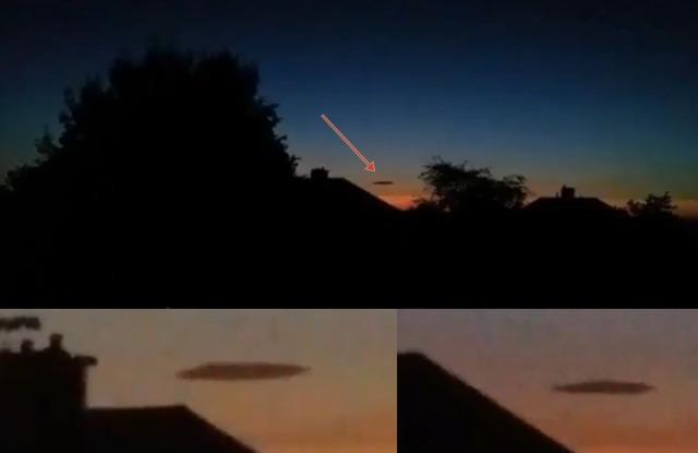 OVNI «enmascarado» masivo atrapado sobre Barnsley en South Yorkshire, Reino Unido