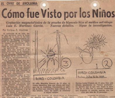 Caso OVNI año 1969 en Colombia. El Caso Arcesio Bermudez