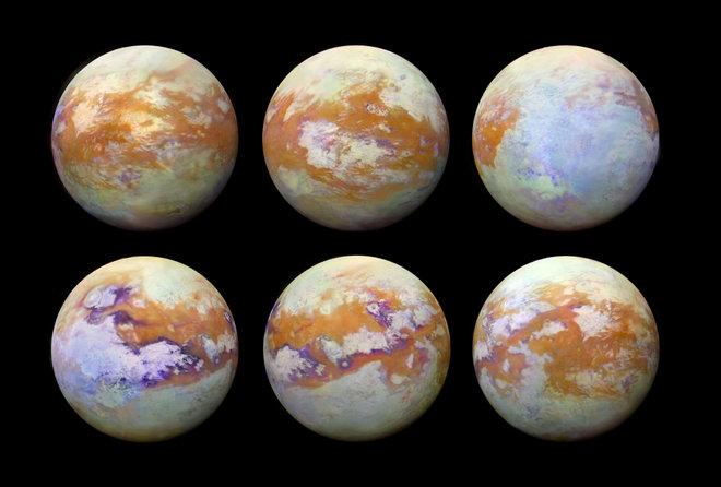 Vistas deslumbrantes muestran la superficie de Saturno Luna Titán como nunca antes