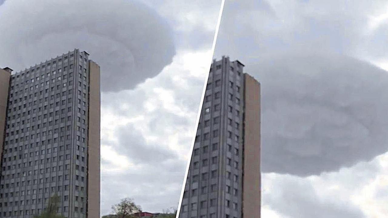 ¿OVNIS camuflados entre las nubes?
