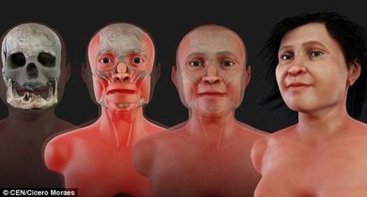 Reconstruyen el rostro de la Eva de los mayas, de 14.000 años de antigüedad