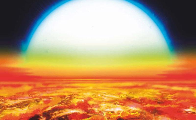 Este nuevo exoplaneta es tan caliente que su atmósfera está compuesta de hierro y titanio vaporizado