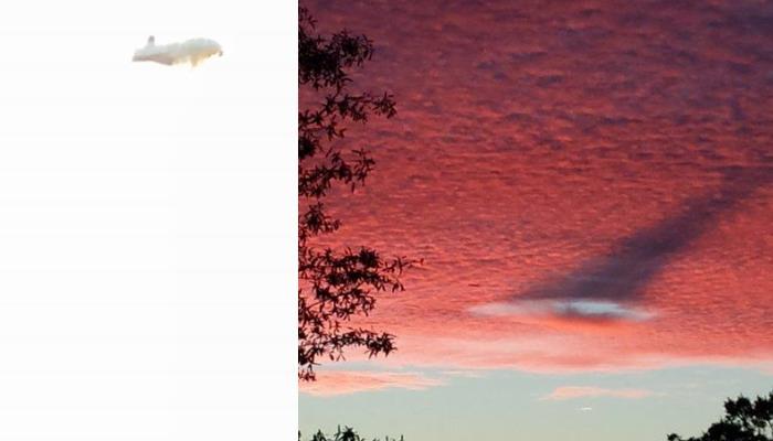 Extraños objetos captados en el cielo