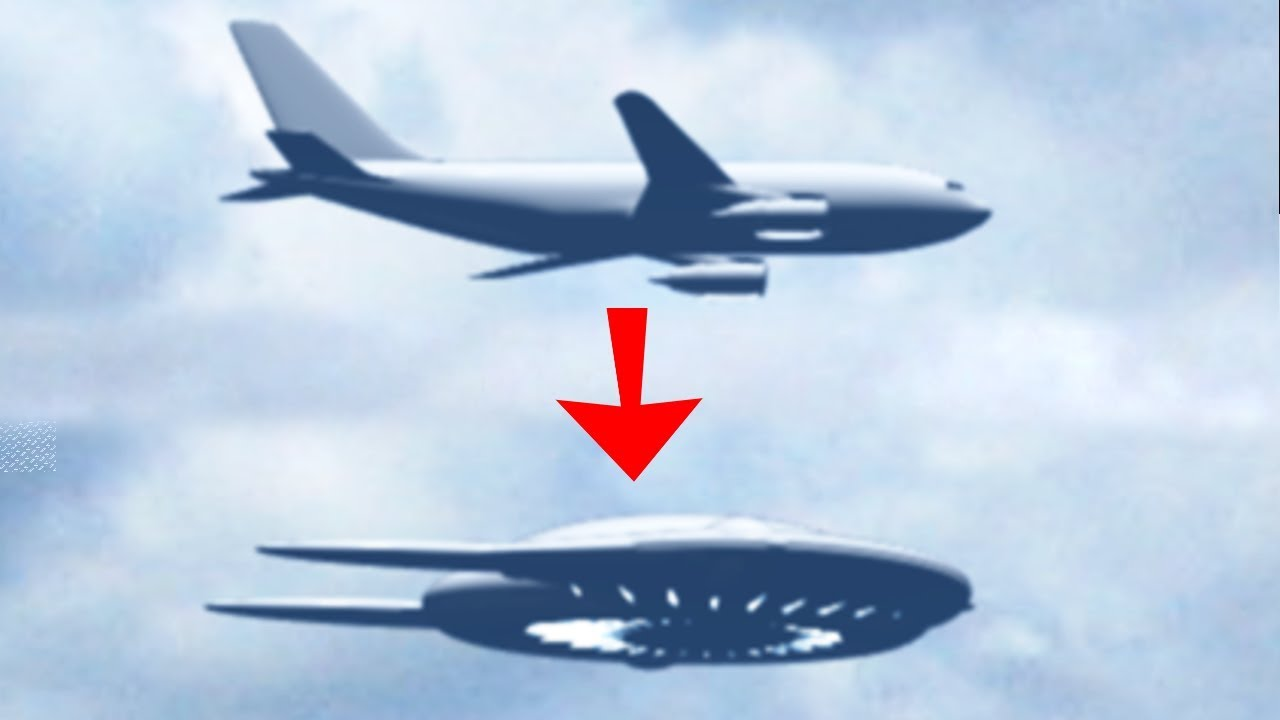 SHOCKING AIRPLANE TRANSFORMS TO UFO ALIEN CRAFT! 8th April 2018!