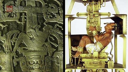 Encuentran  'antiguo cohete' debajo de la tumba de Pakal