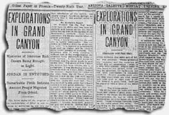 Ciudad subterránea en el Gran Cañón fue documentada en 1909