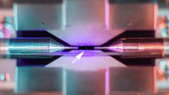 Esta es la primera fotografía de un átomo