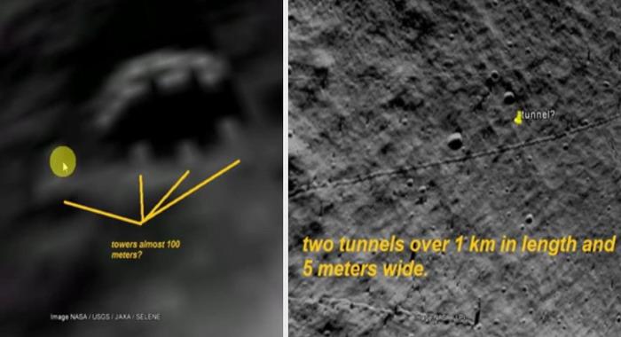 Estructuras extrañas descubiertas en la Luna