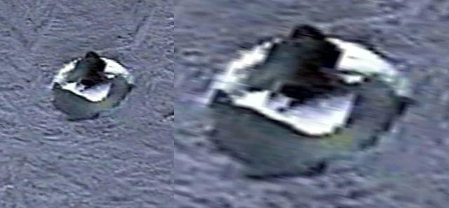 Extraño disco encontrado a 6 km de una base desconocida en la Antártida