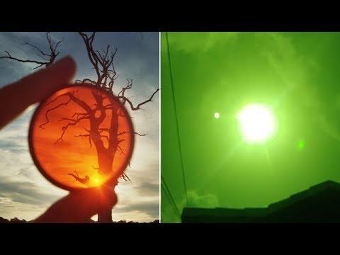 HAY UN OVNI GIGANTE CERCA DEL SOL VISIBLE CON FILTRO SOLAR?