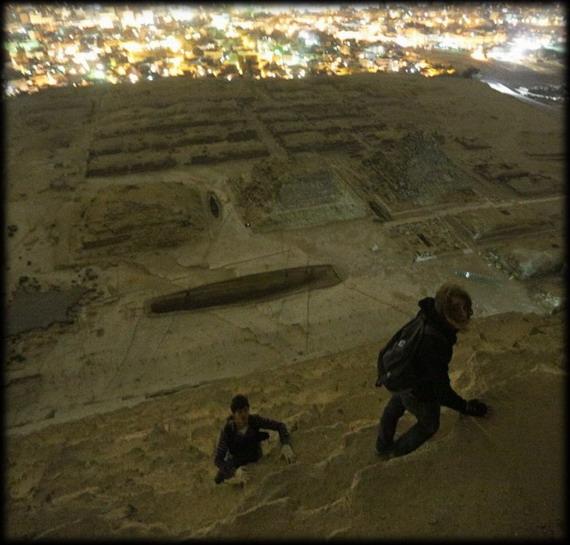 Increíbles fotos de la parte superior de la pirámide de Giza