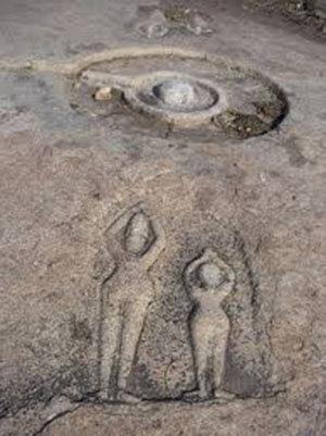 Los arqueólogos Descubre antiguas reliquias de una civilización perdida en los bancos de un río seco en la India