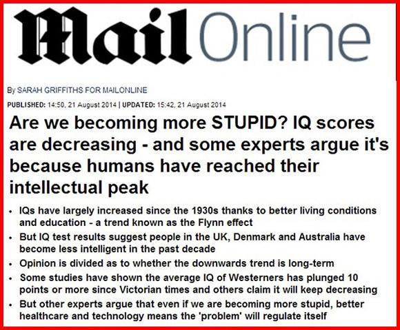 Nuevo Estudio Científico Demuestra que la Población es Cada Vez Más Tonta