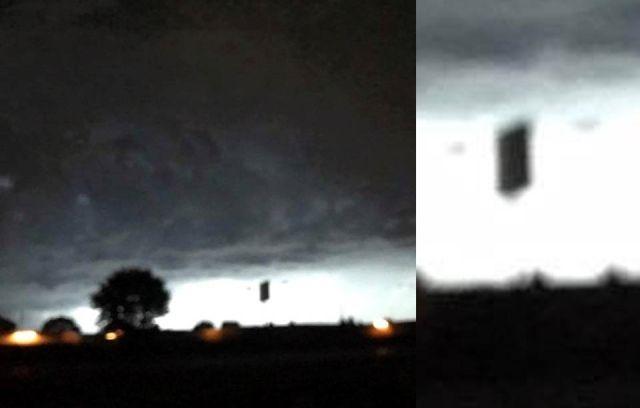 OVNI cuadrado negro aparece de las nubes sobre Wisconsin