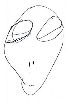 Retratos extraterrestres: personas abducidas relatan y dibujan sus experiencias (FOTOS)