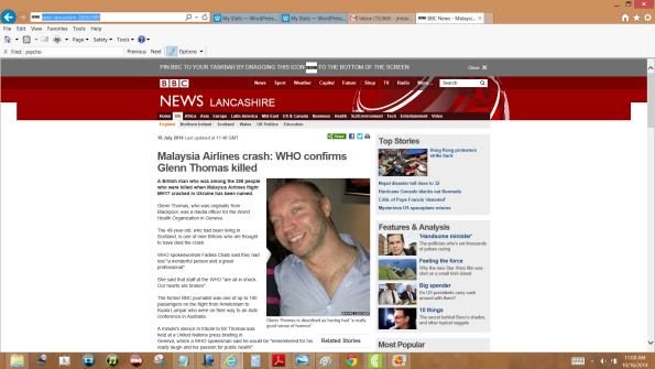 ¿Fue asesinado Glenn Thomas porque NO había epidemia de EBOLA y lo dijo?