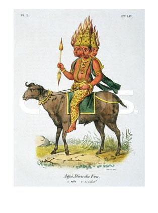 Agni, dios del fuego