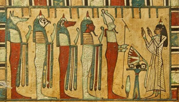 Escenas Raras en un ataúd egipcio revelan la influencia del Imperio Persa
