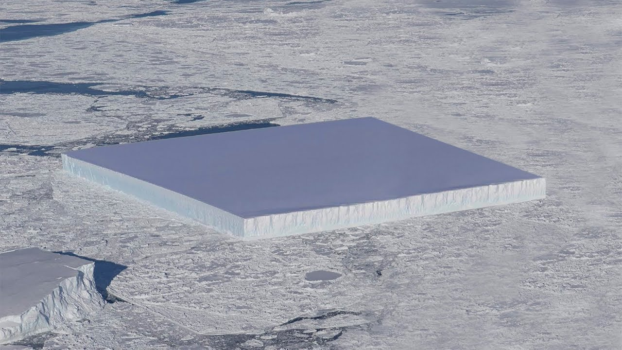 ¡¡¡..Icebergs Cuadrados en la Antártida..!!!