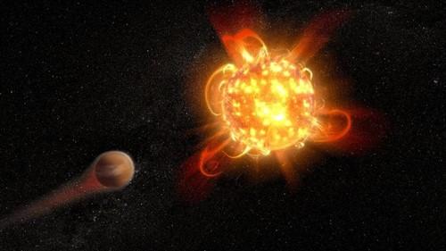 Las enanas rojas emiten superllamaradas sobre planetas habitables