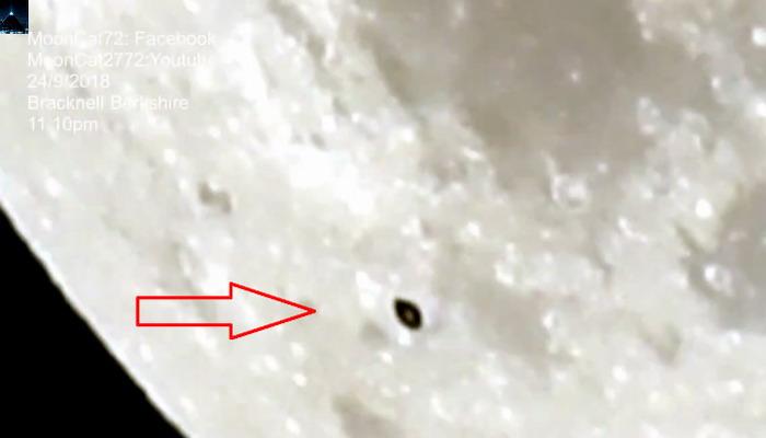Nave que atraviesa la Luna es captada por un astrónomo aficionado