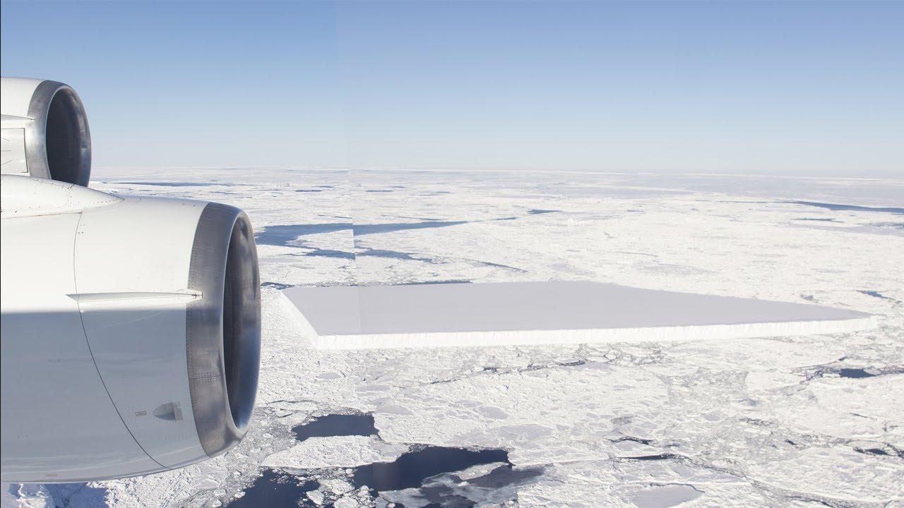 NUEVAS IMÁGENES DEL ICEBERG RECTANGULAR MUESTRAN UNA CLARA MANIPULACIÓN DE NASA