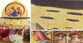 OVNIS y extraterrestres reflejados por artistas en la Antigüedad