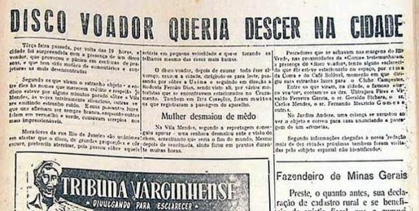 Periódico de 1970 Informó Avistamiento OVNI en Varginha (BRASIL), 26 Años Antes del Famoso Incidente