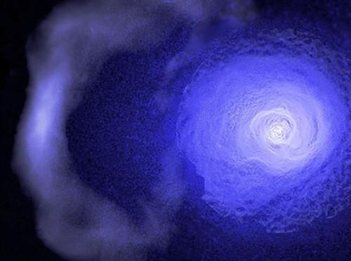 Restos de una colisión hace 5.000 millones de años en el cúmulo Perseo