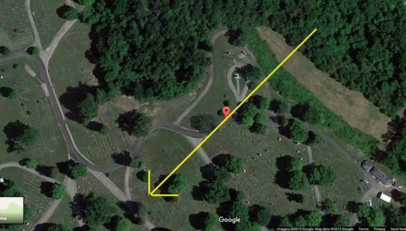 Triángulo OVNI se mueve en silencio sobre Ohio cementerio