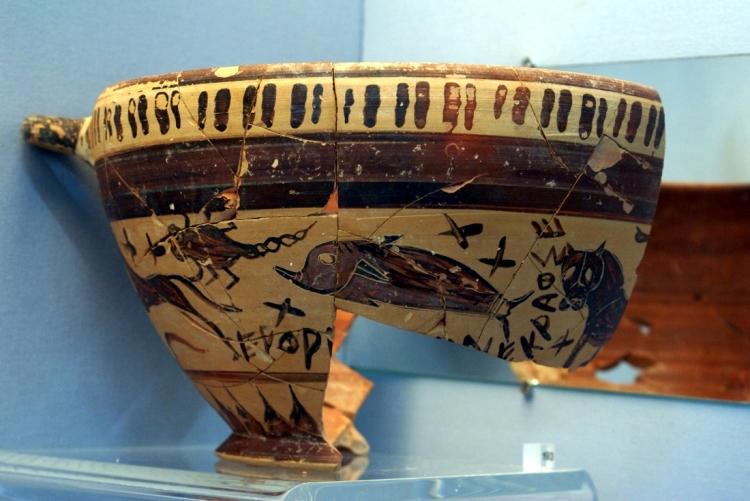 Una antigua taza de vino griega puede estar mostrando constelaciones