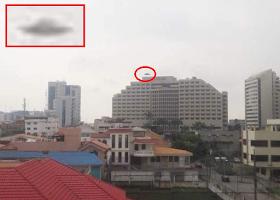 Ecuador.Un auténtico platillo volador fotografiado en Guayaquil.