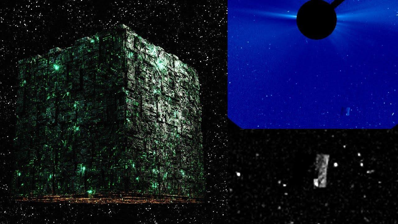 Hay naves en el interior del cubo cerca del sol