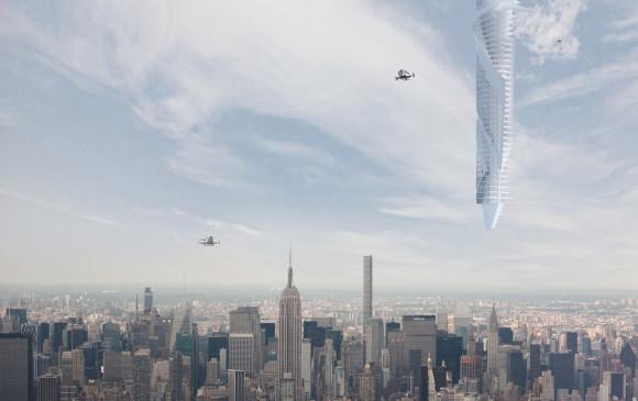 """Los planes para suspender el rascacielos """"más alto del mundo"""" de un asteroide en órbita alrededor de la Tierra han sido revelados por la firma de arquitectura Clouds Architecture Office"""