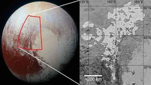 Nueva de forma de relieve glaciar que es exclusiva de Plutón