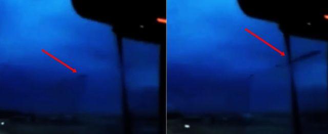 Algo raro aparece en el cielo sobre Nebraska durante una tormenta