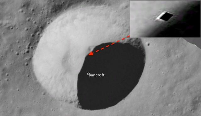 ALIEN ON THE MOON: la entrada a una base subterránea alienígena está en el cráter Bancroft.